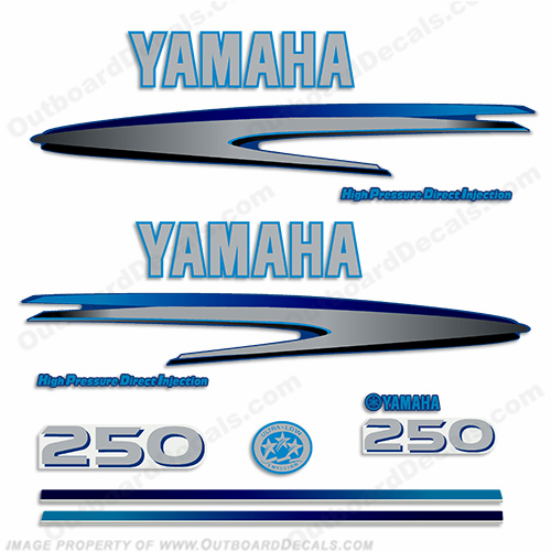 Yamaha decals for Custom outboard motor decals