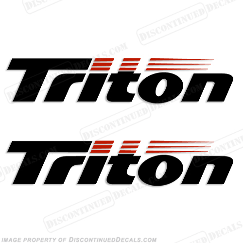 triton boat logo decals  set of 2
