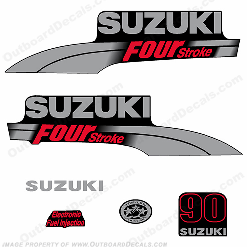 Suzuki 90hp DF90 Decal Kit