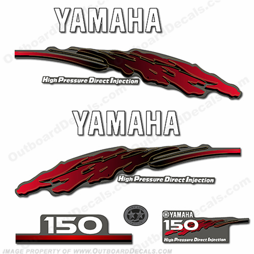 Yamaha 150hp HPDI Decal Kit - 2001