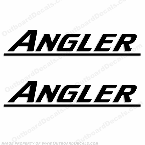Angler Decals Newer Style (Set of 2) - Any Color!