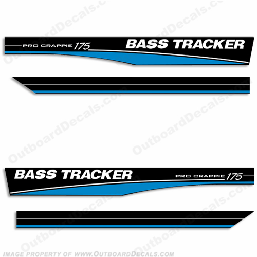 Bass Tracker Pro Crappie 175 Decals - Blue