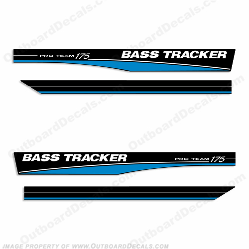 Bass Tracker Pro Team 175 Decals - Blue