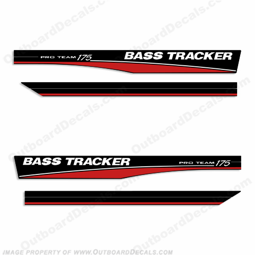 Bass Tracker Pro Team 175 Decals - Red