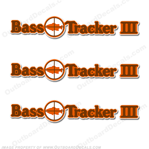 Bass Tracker III Target Boat Decal Package - 1970's 70, 70s