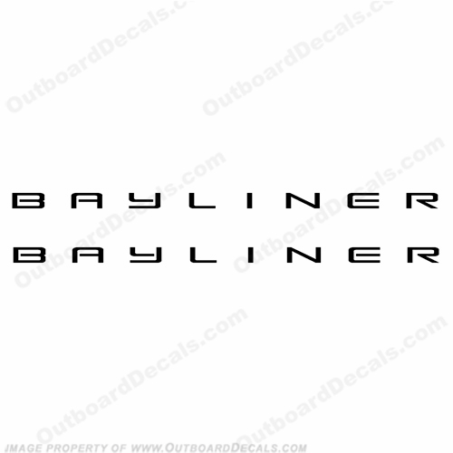 "Bayliner Boats 28"" Logo Decals - Any Color! (Set of 2)"