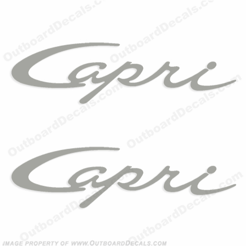 Bayliner Capri Script Logo Decals - Any Color! (Set of 2)