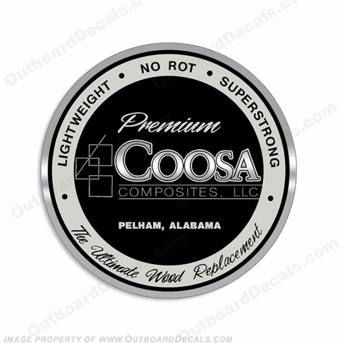 Coosa Composites Boat Logo Decal - 3""