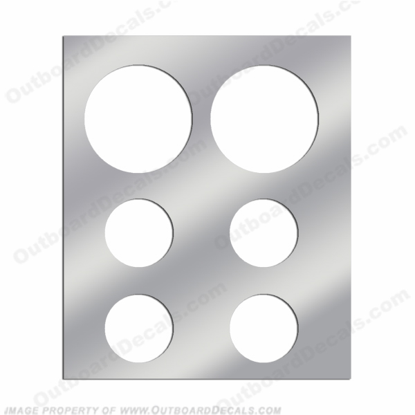 Instrument Gauge Panel - Stainless Steel