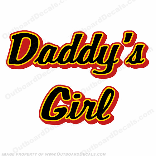 Custom Boat Name Lettering - Daddy&#39s Girl