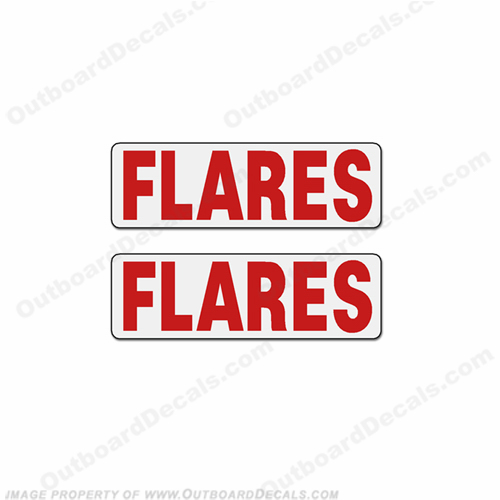 Boat Label Decals - Flares (Set of 2)