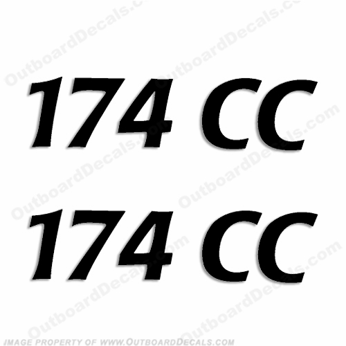 "Cobia Boats ""174CC"" Decals (Set of 2) - Any Color!"