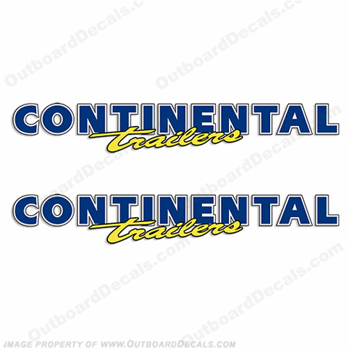 Continental Trailer Decals (Set of 2) - New Style