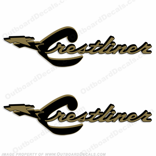 Crestliner Boat Decals - Set of 2