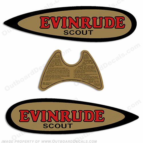 Evinrude 1937 .09HP Outboard Engine Decals