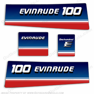 Evinrude 1980 100hp Outboard Engine Decals