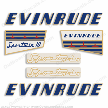 Evinrude 1956 10hp Engine Decals
