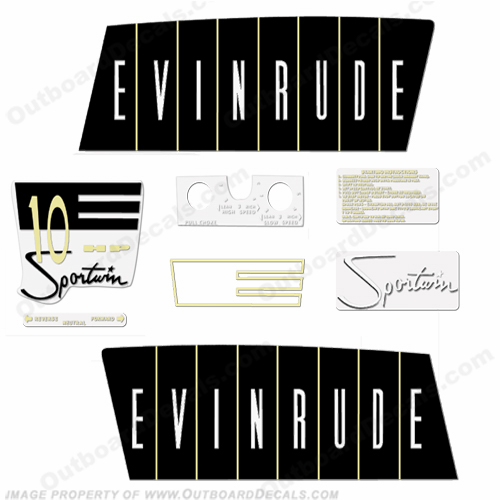 Evinrude 1960 10hp Outboard Engine Decals
