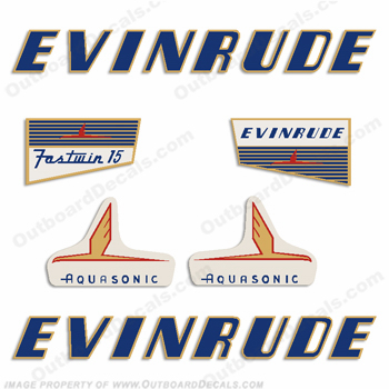 Evinrude 1955 15hp Engine Decals
