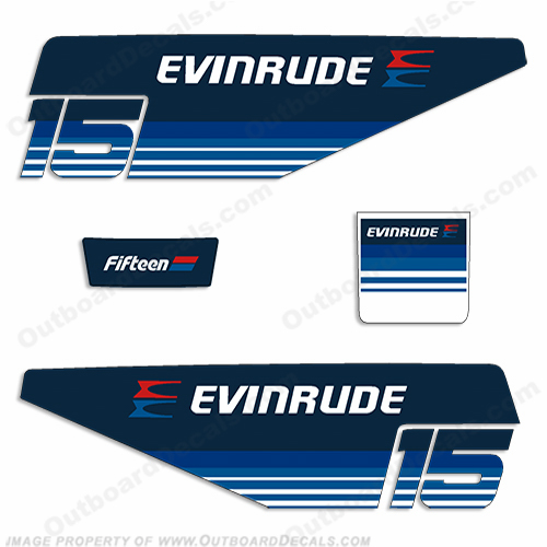 Evinrude 1979 15hp Outboard Engine Decals
