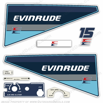 Evinrude 1985 15hp Outboard Engine Decals