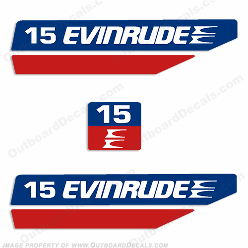 Evinrude 1970&#39s 15hp Outboard Decal Kit