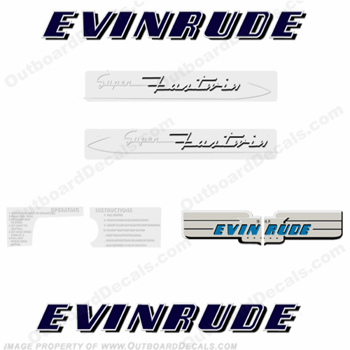 Evinrude 1953 15hp Outboard Engine Decals