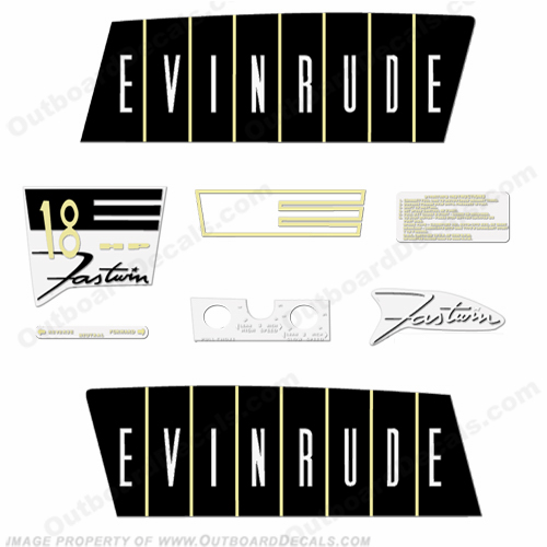 Evinrude 1960 18hp Outboard Engine Decals