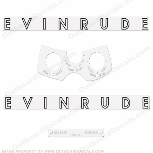Evinrude 1962 18hp Decal Kit