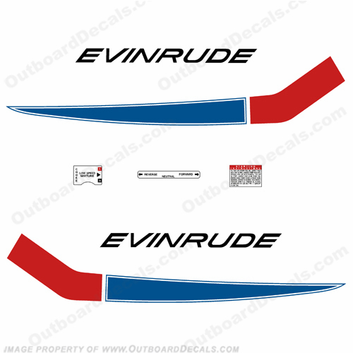 Evinrude 1968 18hp Outboard Engine Decals