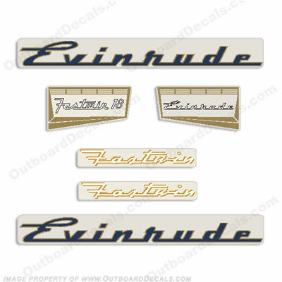 Evinrude 1957 18hp Outboard Engine Decals