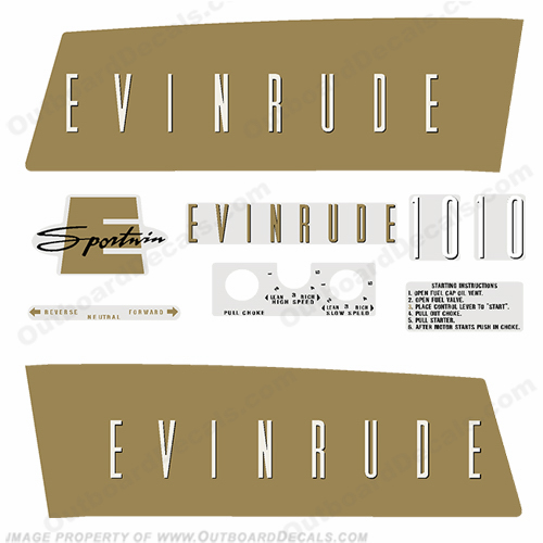 Evinrude 1959 10hp Decal Kit