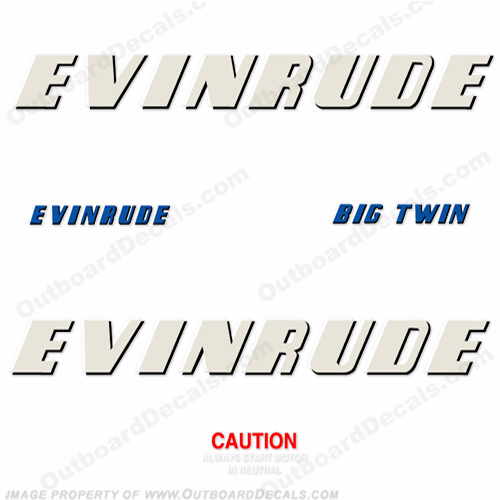 Evinrude 1952 25hp Outboard Engine Decals