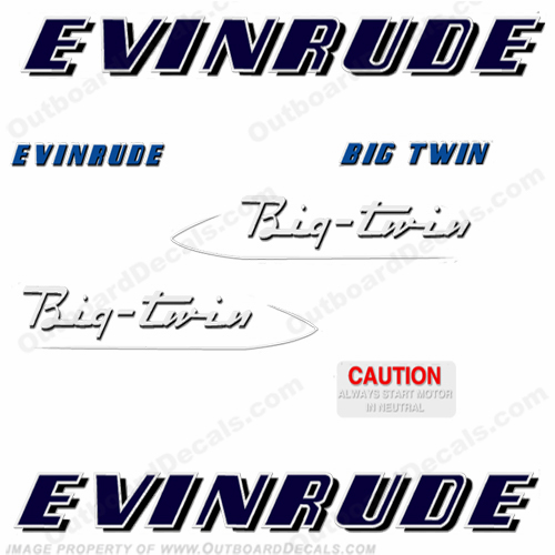 Evinrude 1953 25hp Engine Decals