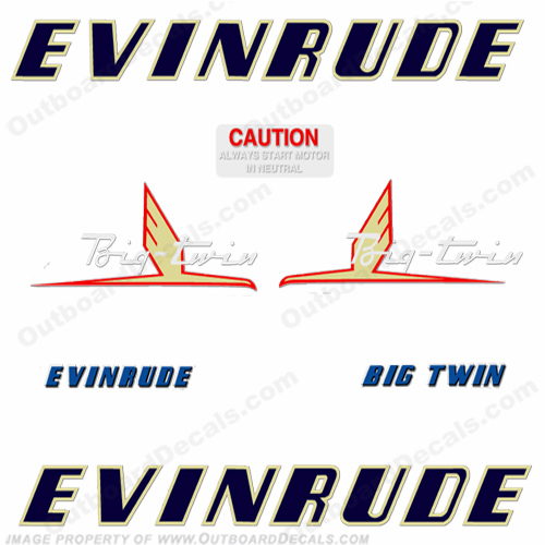 Evinrude 1954 25hp Engine Decals