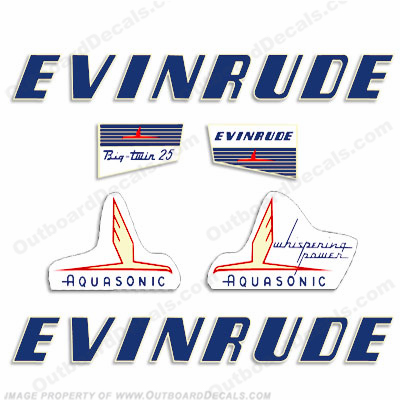 Evinrude 1955 25hp Decal Kit