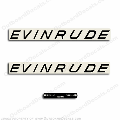 Evinrude 1963 28hp, 33hp or 40hp Outboard Decals