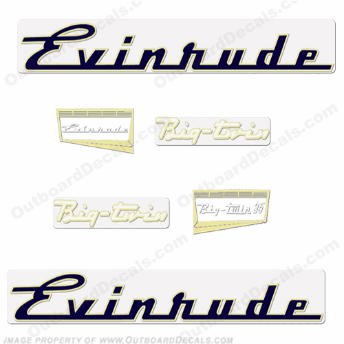 Evinrude 1957 35hp Outboard Engine Decals