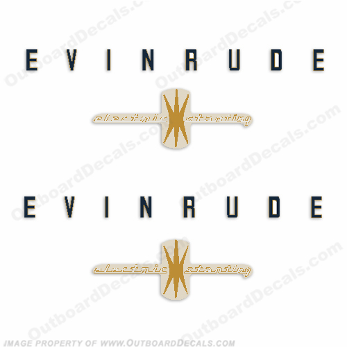 Evinrude 1958 35hp Electric Start Engine Decals