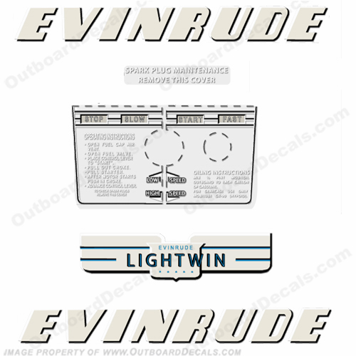 Evinrude 1952 3hp Outboard Engine Decals