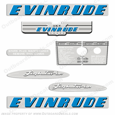 Evinrude 1953 3hp Outboard Engine Decals
