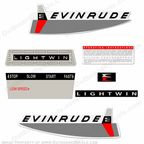 Evinrude 1963 3hp Outboard Engine Decals