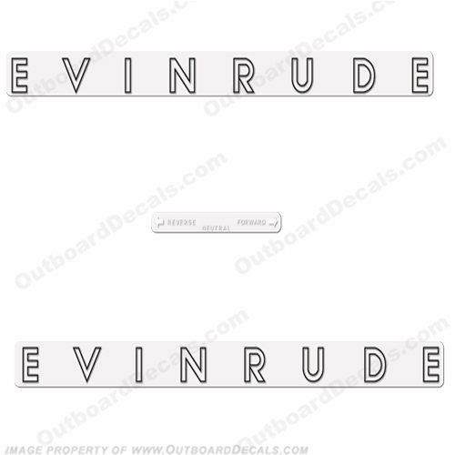 Evinrude 1962 40hp Decal Kit