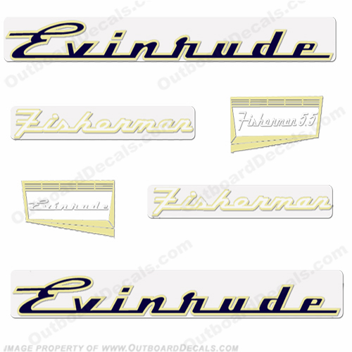 Evinrude 1957 5.5hp Outboard Engine Decals