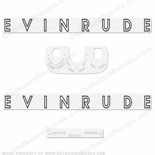 Evinrude 1962 5.5hp Outboard Engine Decals