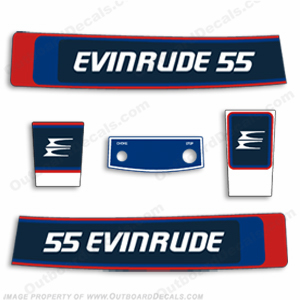 Evinrude 1976 55hp Outboard Engine Decals