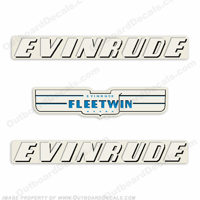 Evinrude 1950 7.5hp Outboard Engine Decals