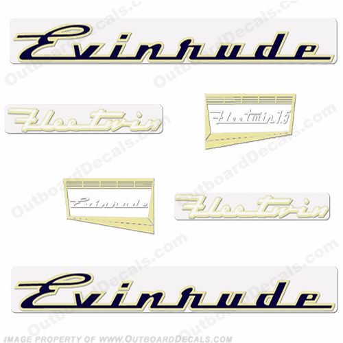 Evinrude 1957 7.5hp Engine Decals