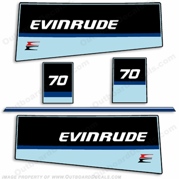 Evinrude 1984 70hp Outboard Engine Decals