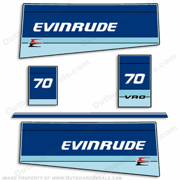 Evinrude 1985 70hp Outboard Engine Decals